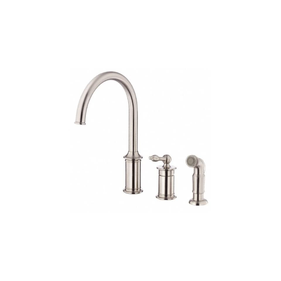 Danze D409010SS Prince Single Handle Kitchen Faucet with Side Spray, Stainless Steel