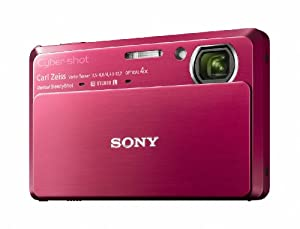 Sony DSC-TX7 10.2MP CMOS Digital Camera with 4x Zoom with Optical Steady Shot Image Stabilization and 3.5 inch Touch Screen LCD (Red)