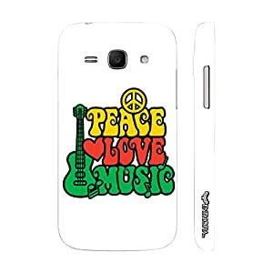 Samsung Ace 3 Peace Love Music designer mobile hard shell case by Enthopia