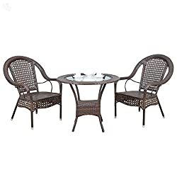 Royal Oak Camp Outdoor Table with 2 Chairs (Honey Brown)