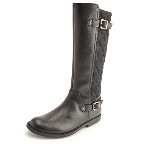 Start-rite Gallop Nero in Pelle/Quilt Ragazze Boot, Nero