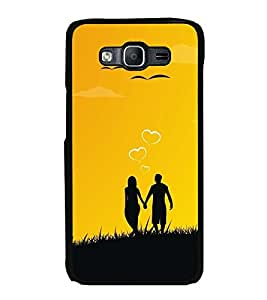 Fuson Premium 2D Back Case Cover We are one Forever With Brown Background Degined For Samsung Galaxy On5::Samsung Galaxy On5 G550FY