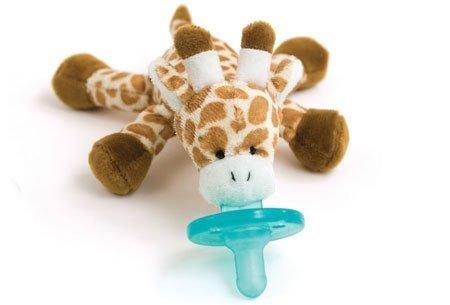 Wubbanub Infant Plush Toy Pacifier Giraffe front-1081327
