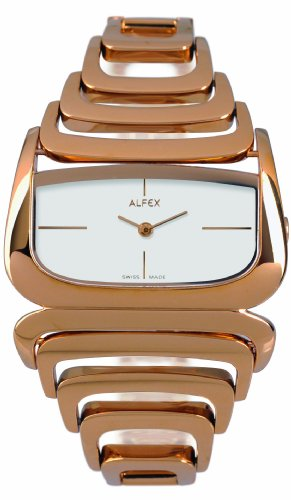 Alfex Women's Quartz Watch Analogue Display and Stainless steel plated Strap 5669_613
