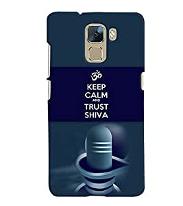 PRINTVISA Religious Shiva Quotes Case Cover for Huawei Honor 7