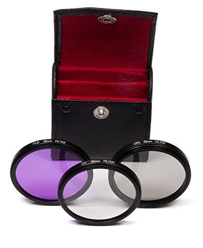 Belmalia 52 mm UV + FLD + CPL Set di filtri per ad esempio Canon, Olympus, Nikon DSLR D7100 D7000 D5200 D5100 D5000 D3200 D3100 D3000 D90 D80 D60