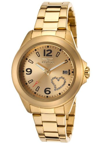 Invicta 16327 Women'S Specialty Gold-Tone Steel Gold-Tone Dial White Crystal