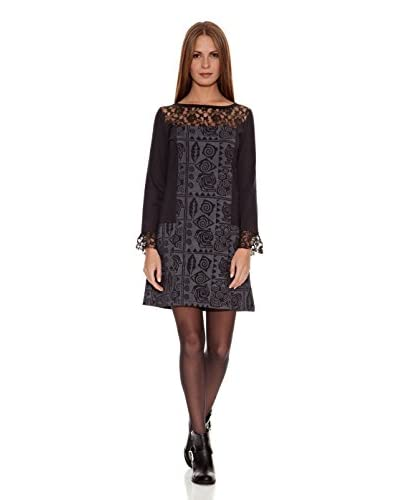 HHG Vestido  Chartres Negro / Gris
