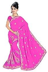 Shiv Fashion Women's Georgette Saree (C-1_Pink_Freesize)