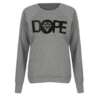 femmes dope chandail (womens dope sweater) (36/38 (sm), gris - grey)
