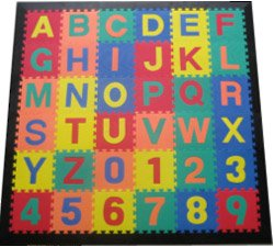 Picture of American Creative Team Alphabet and Numbers Interlocking Foam Puzzle Mat (B003TLQP1U) (Puzzle Play Mats)