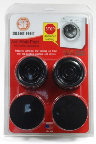 Anti-walk Silent Feet - Anti-Vibration Pads for Washing Machines and Dryers (Washer And Dryer Floor Mat compare prices)