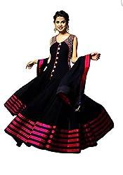 Salwar Suit Women's black georgette Dress materials