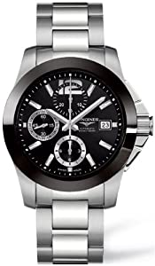 Longines Conquest Chronograph Stainless Steel Mens Watch L3.661.4.56.6