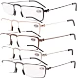 5 Pairs Valupac Reading Glasses(Include Gunmetal,Silver,Black,Gold,Brown) +2.00