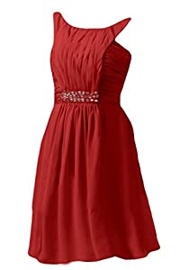 Angel Bride Evening Dresses Chiffon Party Dresses Prom Dresses Short Red- US Size 16