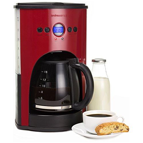 andrew-james-1100-watt-digital-filter-coffee-maker-in-red-includes-reusable-mesh-filter-non-stick-wa