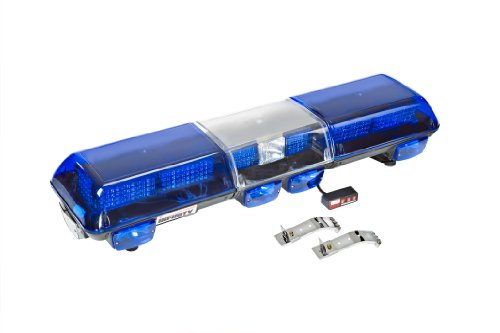 Wolo 7705-B Infinity 3 Blue LED Roof Mount Full Bar Warning Light