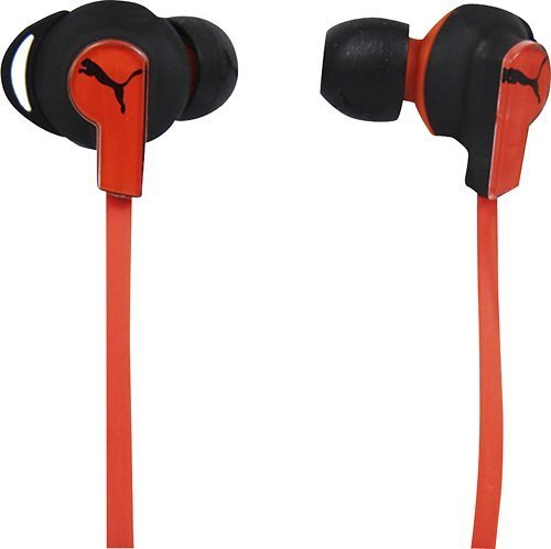 Puma Social Buds - Keg Earbud Headphones - Black/Red