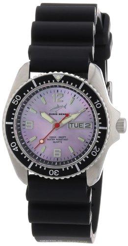 Chris Benz CBM.R.KB.SW - Reloj analógico de cuarzo unisex con correa de caucho, color negro
