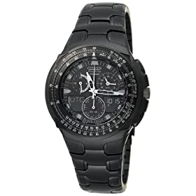 Citizen Men's Eco-Drive Black Ion-Plated Skyhawk Watch #JR3155-54E