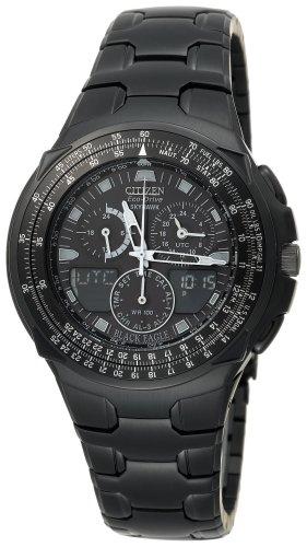 Citizen Men's JR3155-54E Eco-Drive Black Ion-Plated Skyhawk Watch