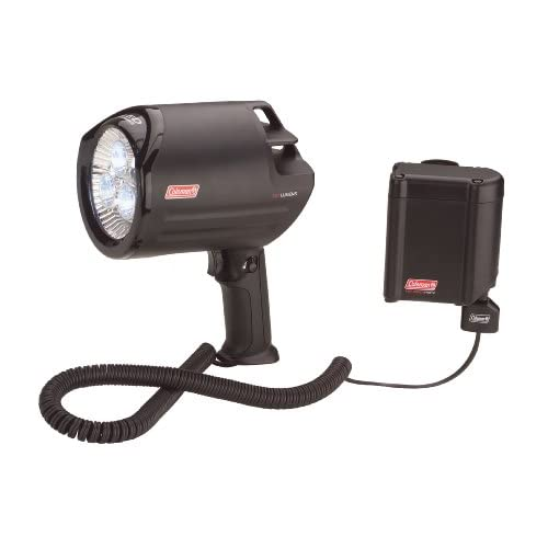 coleman 12v led spotlight with rechargeable battery pack camping lights and. Black Bedroom Furniture Sets. Home Design Ideas