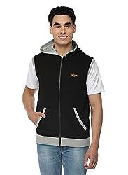 Stellers Sleeveless Solid Mens Sweatshirt