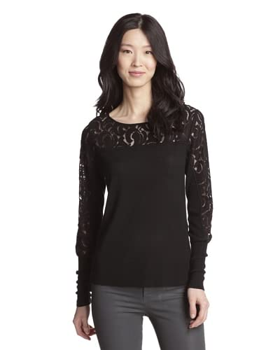 Rachel Roy Women's Victoria Lace Knit Top