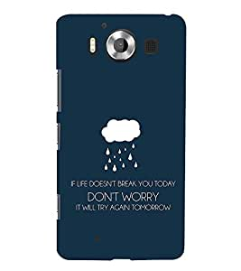 99Sublimation If and But Tomorrow 3D Hard Polycarbonate Back Case Cover for Microsoft Lumia 950, Nokia Lumia 950