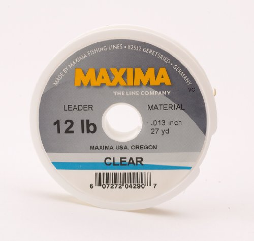 Maxima fishing line leader wheel clear 12 pound 27 yard for Fishing line leader