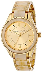 Kenneth Jay Lane Women's 2241 2200 Series Analog Display Japanese Quartz Gold Watch