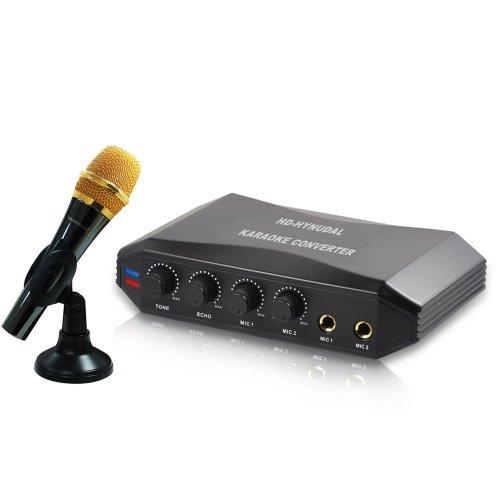 Hd-Hynudal® Online Singing Machine Karaoke Converter + 1 Condenser Microphones For Mid,Pc,Laptop,Ipad,Dvd