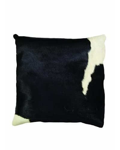 Natural Brand Torino Cowhide Pillow, Black/White As You See