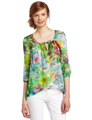 Cluny Women's Floral Printed Blouse, Multi, 8