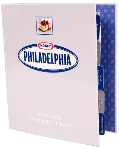 Philadelphia Cream Cheese Recipe Collection in 3-Ring Binder