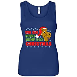 Merry Hump Day Christmas Camel Women's Tank Top