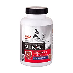 Nutri-Vet Hip & Joint Advanced Strength Chewable Tablets for Dogs, 90-Count
