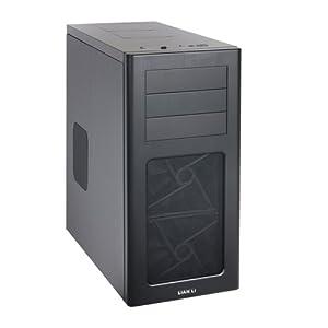 Lian Li PC-7HX Midi-Tower PC-Gehäuse (micro-ATX, 4x 3,5 HDD, 1x 2,5 HDD, 2x USB 3.0) schwarz