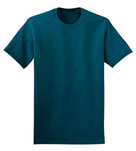 TL Mens Solid Slim Fit 100% Cotton Crew Neck Short Sleeve Basic T Shirts