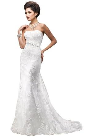 FairOnly Mermaid Lace Bridal Wedding Dress 2B3 Amazoncouk Clothing