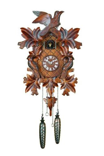 German Cuckoo Clock Quartz-movement Carved-Style 16 inch - Authentic black forest cuckoo clock by Trenkle Uhren