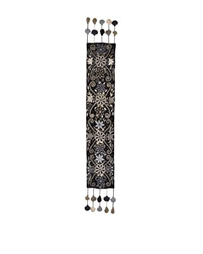 Uptown Down Handcrafted Table Runner, Black/White As You See
