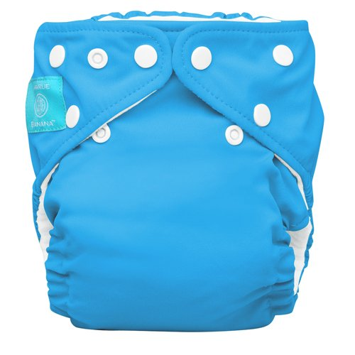 Charlie Banana Diaper In Bellywrap, Turquoise, Medium, 0.42 Pounds (Pack of 24) - 1