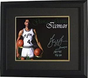 George Gervin Autographed Hand Signed San Antonio Spurs 16x20 Photo Custom Framed 3... by Hall of Fame Memorabilia