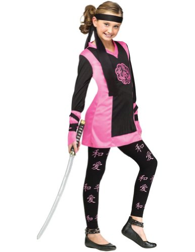 Dragon Ninja Child Costume 8-10 Kids Girls Costume
