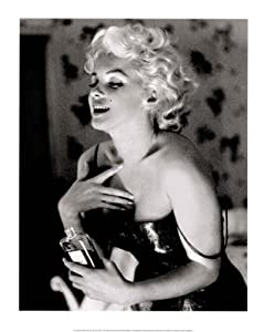 Ed Feingersh Marilyn Monroe Chanel No 5 Glow Movie Poster Print - 16x20 custom fit with RichAndFramous Black 16 inch Poster Hangers