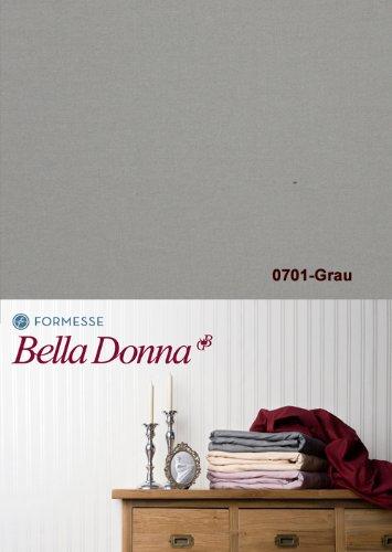 Bella Donna Jersey Spannbettlaken 1B Qualität 180/200 - 200/220cm - Grau (0701)