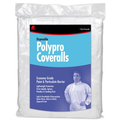 Buffalo 68517 White Disposable Polypro Coveralls, X-Large