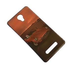 Saihan Soft Light Silicon TPU Back Case Cover for Micromax Canvas Q370 - Ferrari Print